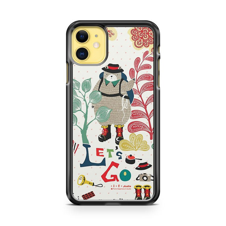 Bear Travel Let s Go iPhone 11 Case Cover | Oramicase