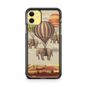Flight of The Elephants iPhone 11 Case Cover | Oramicase