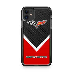 Corvette Logo Carbon iPhone 11 Case Cover | Oramicase