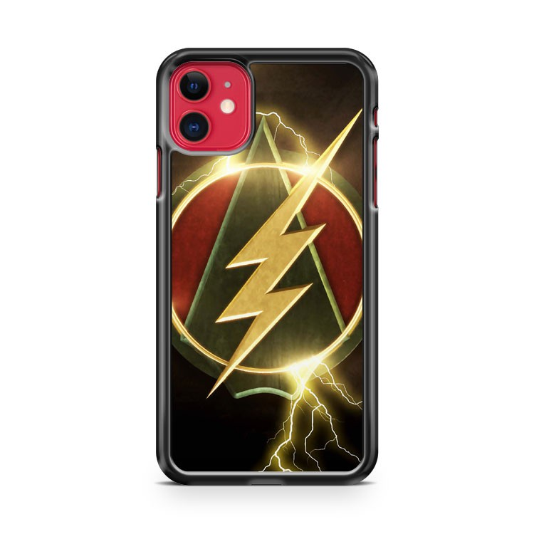 Arrow Flash Crossover iPhone 11 Case Cover | Oramicase