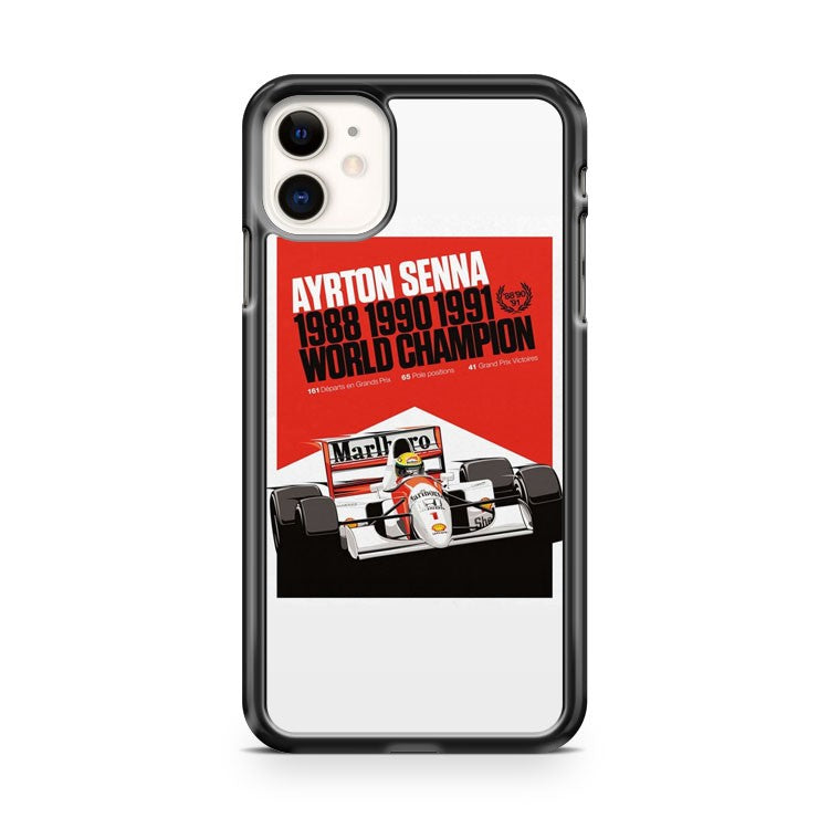 Ayrton Senna World Champion F1 Formula iPhone 11 Case Cover | Oramicase