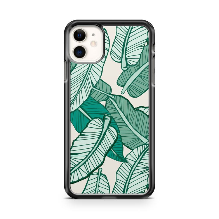 Banana Leaf Art iPhone 11 Case Cover | Oramicase