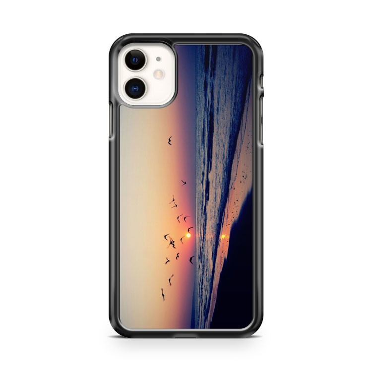 Beach Sunset Birds iPhone 11 Case Cover | Oramicase