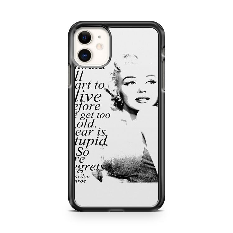BEAUTIFUL MARILYN MONROE BLACK LEOPARD iPhone 11 Case Cover | Oramicase