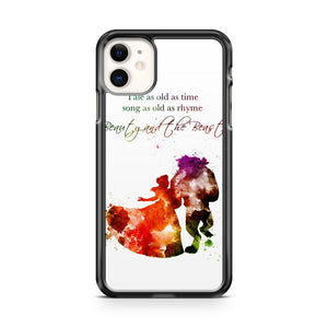Beauty and The Beast Disney Quotes Art iPhone 11 Case Cover | Oramicase