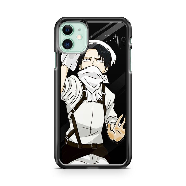 ATTACK ON TITAN CLEANING LEVI 2 iPhone 11 Case Cover | Oramicase