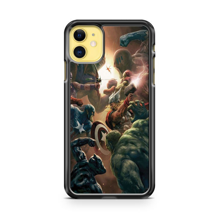 Avengers Marvel Ironman Hulk Thor Hawkeye War iPhone 11 Case Cover | Oramicase
