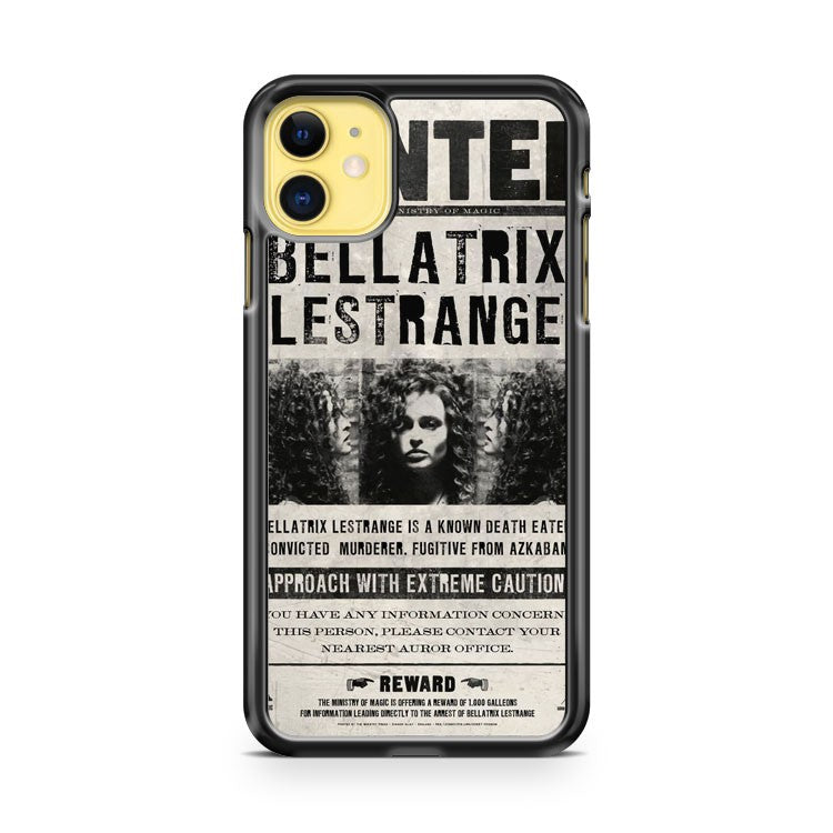 Bellatrix Lestrange Wanted Poster iPhone 11 Case Cover | Oramicase