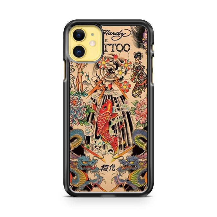 COOL JAPANESE TATTOO SKETCH ART iPhone 11 Case Cover | Oramicase