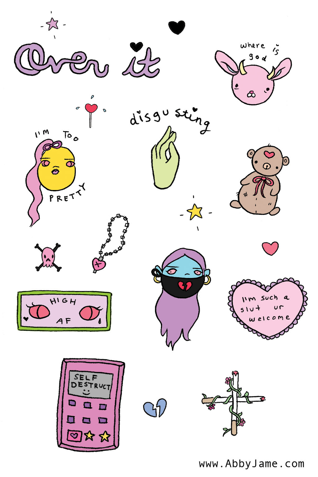 Over It Sticker Sheet