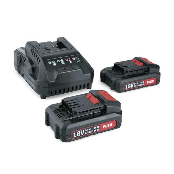 FLEX  P-SET 22 Q (Chargeur + 2 batteries 18.0V 2.5 Ah)