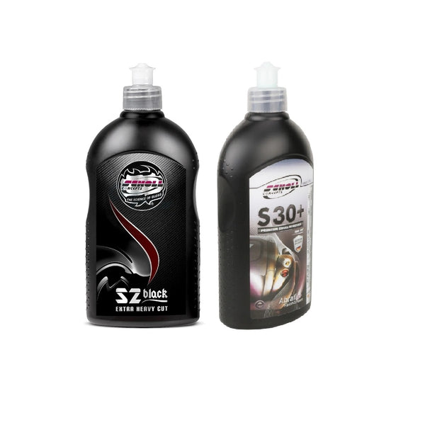KIT POLISH SCHOLL CONCEPTS S2 BLACK + S30 FINISH 500G FORMULA-DETAILING-AUTO