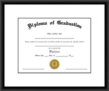 Load image into Gallery viewer, Black Diploma Frame