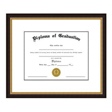Load image into Gallery viewer, Black & Gold Diploma Frame