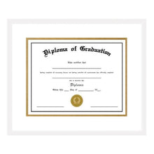 Load image into Gallery viewer, White Diploma Frame