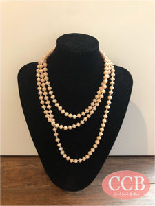 Necklace – Beaded Light Peach