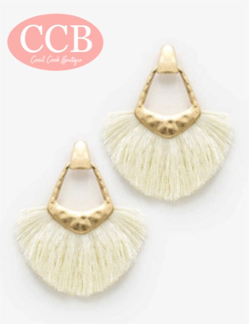 Earrings- Tassel Ivory