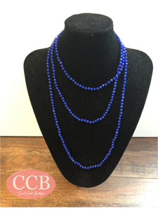 Necklace – Beaded Royal Blue