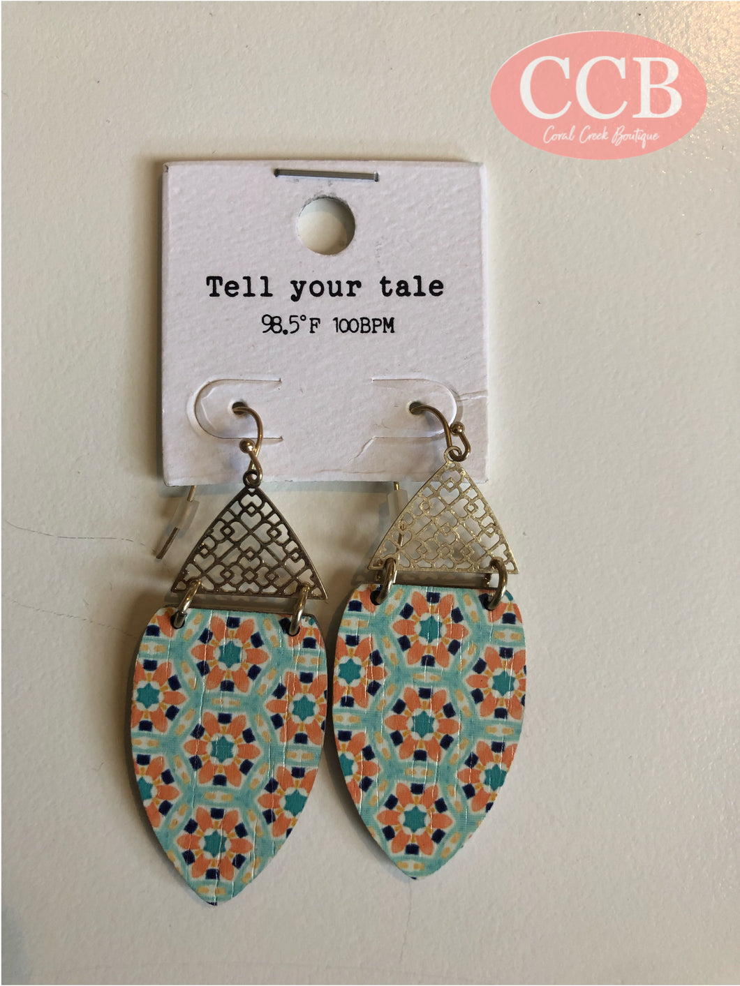 Earrings- Gold/ Orange
