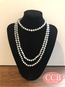 Necklace – Beaded Gray