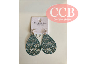 Earrings- Design Teal