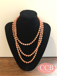 Necklace – Beaded Peach