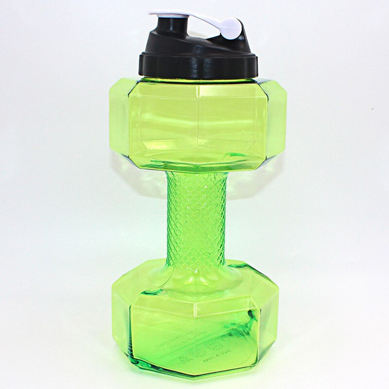 2.5 l dumbbell-shaped Bpa-free plastic water bottle with large capacity