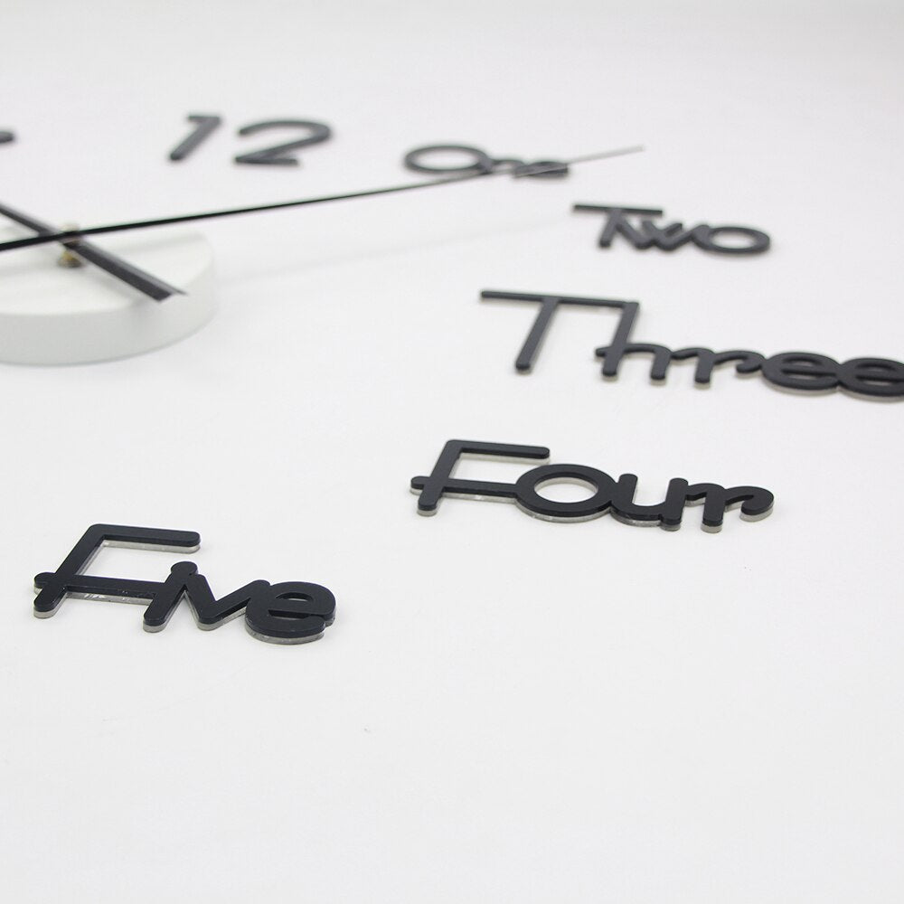 3D Quartz Wall Clock -  Modern Design In Wall Clocks