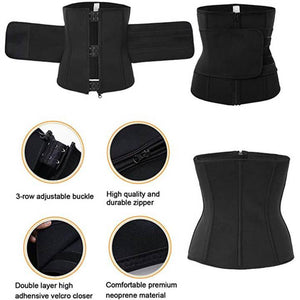 Waist Trainer Sauna Belt with Neoprene for Weight Loss