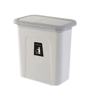Kitchen Garbage Bin - Push Cover Wall-Mounted Trash Can