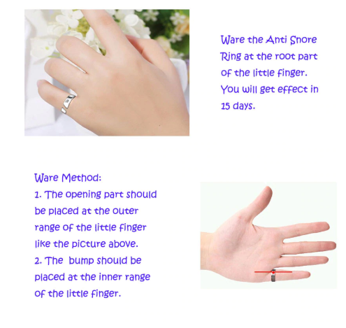Anti Snore Ring (Magnetic Therapy Acupressure) - Treatment Against Snoring