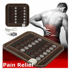 Electric Infrared Heating Mat - Natural Tourmaline Massage Pad for Back Shoulder Legs Muscles - Pain Relief