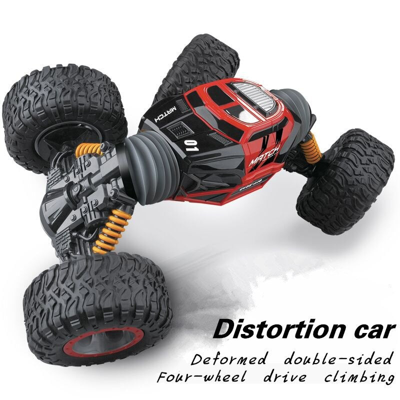 2.4G 4WD double-sided stunt RC car A key deformation vehicle Monster Rock Crawler off-road vehicle RTR