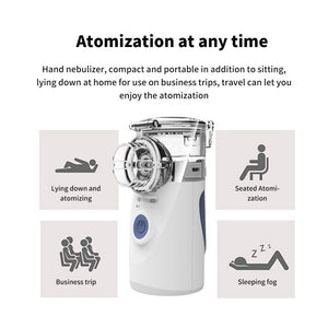 Portable Ultrasonic Health Care Mini Handheld Inhale Nebulizer Silent