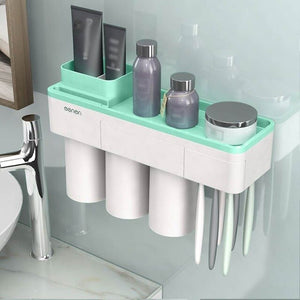 Solid Bathroom Rack - Wall Magnetic  Toothbrush Holder