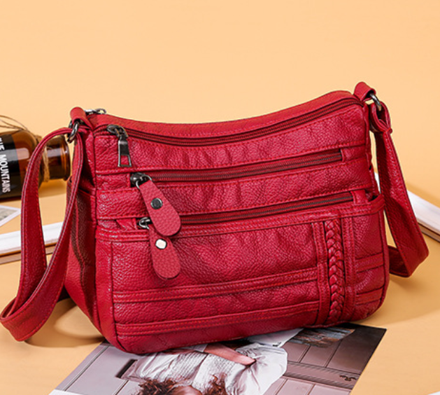 Washed Leather Crossbody Bags for Women
