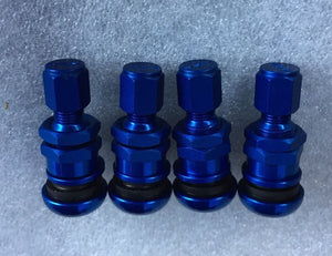 Ray'S  Aluminum Valve Stem Assy (Blue, Set Of 4 )