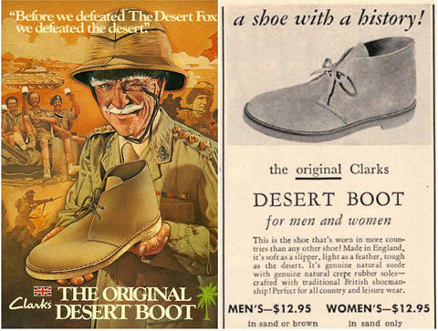 Vintage Clarks Ad for the Original Desert Boot