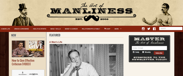 Best Men's Lifestyle Blogs Art Of Manliness