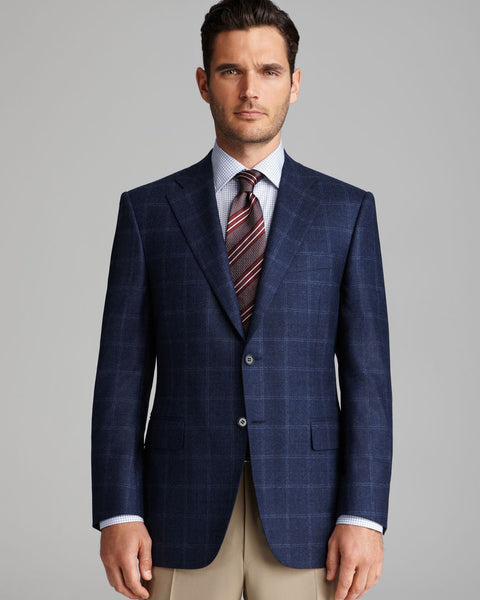 Blue windowpane blazer