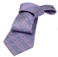 Lilac & Purple Floral Striped Silk Tie Weddings