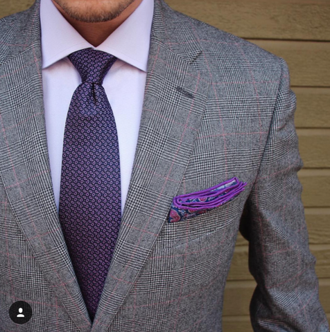 Men's Purple Pocket Square