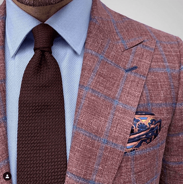 Brown Sports Jacket & Brown Grenadine Tie