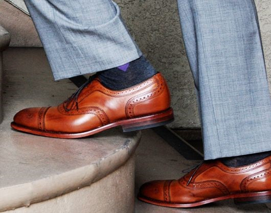 Light Grey Pants Brown Brogues