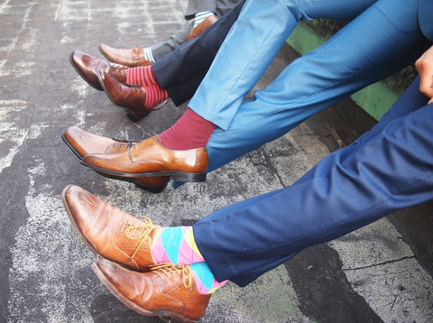 Business Casual Colorful Socks