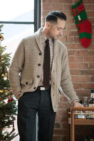 Business Casual Shawl Collar Cardigan