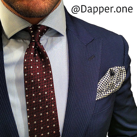 Burgundy Polka Dot Silk Tie