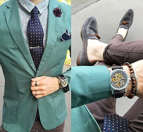 Denim Jeans With Sports Coat and Silk Tie