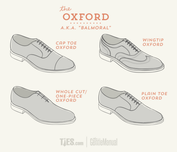 Oxford Dress Shoes Infographic