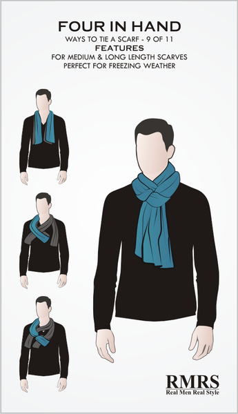 Four In Hand Scarf Knot Infographic